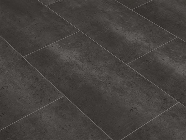 Klick Vinyl Designboden Check one Neumühl Beton in Fliesenoptik, 4,0 x 305 x 610 mm, Kanten gefast, Nutzungsklasse 23/31, Nutzschicht 0,3 mm, mit stabiler RIGID Vinyl Trägerplatte
