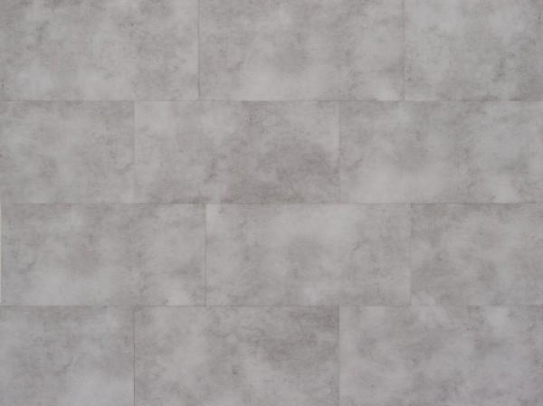 Klick Vinyl Designboden mit integrierter Trittschalldämmung, MEFO FLOOR Tansanit in Fliesenoptik, 6,5 x 300 x 600 mm, Kanten gefast, Nutzungsklasse 33/42, Nutzschicht 0,5 mm, mit stabiler SPC Vinyl Trägerplatte