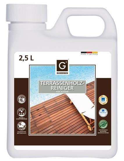 Gunreben Holzterrassen Reiniger, Kanister mit 2,5 Liter für ca. 20-80 m²