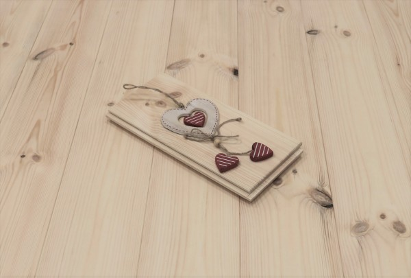 Schlossdielen Kiefer, Markant, aus massivem Holz, 21 x 137 mm von 3250 bis 5350 mm, optional in Fixlänge, Kanten gefast, Nut / Feder Verbindung