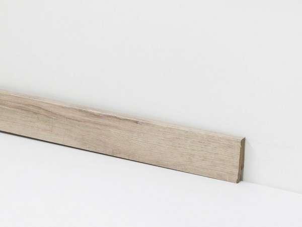 Vinyl Sockelleiste von Check, 2045 Hellweg Eiche mit 18 x 58 x 2400 mm