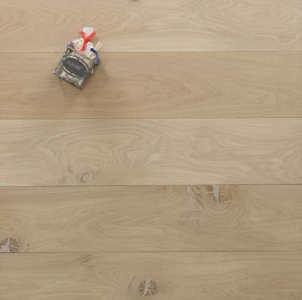 Schlossdielen Eiche, roh bzw. unbehandelte Oberfläche, aus massivem Holz, 20 x 180 / 200 mm von 1800 bis 5100 mm, Kanten gefast, Nut / Feder Verbindung