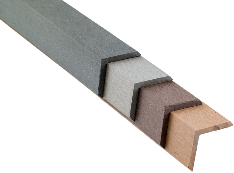 WPC Winkelleiste farblich passend zur Decklage 48 x 48 x 2900 mm