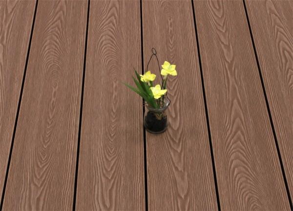 WPC Terrasse massiv, Vollprofil, 22 x 143 bis 4800 mm, Oberfläche mit Struktur in Holzoptik, Farbton braun, 8,90 €/lfm
